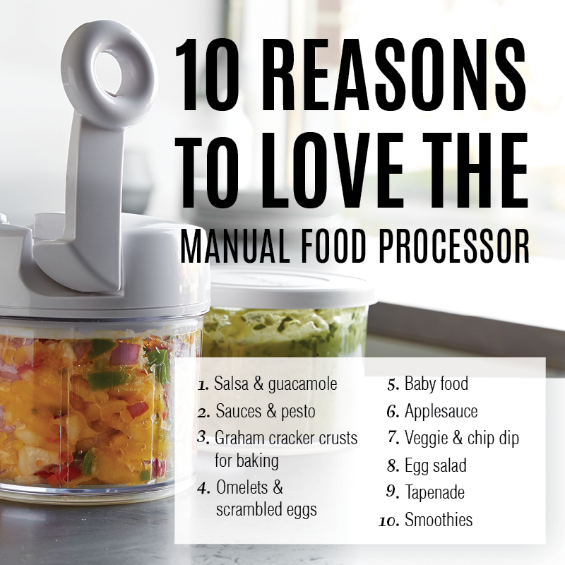 pampered chef food chopper vs. manual food processor – what's the