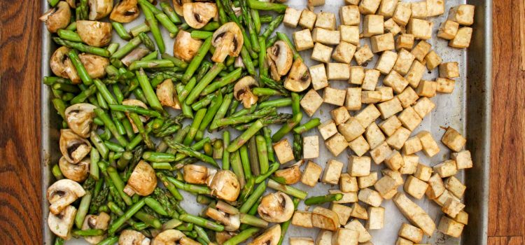 Sheet Pan Tofu with Asparagus and Mushroom